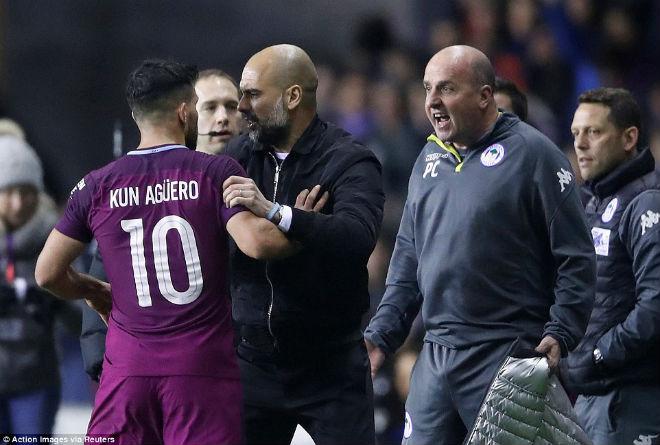 Man City thua sốc FA cup, Pep Guardiola suýt ẩu đả với HLV Wigan