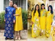 Đời sống Showbiz - Gia đình Tăng Thanh Hà diện áo dài đón Tết