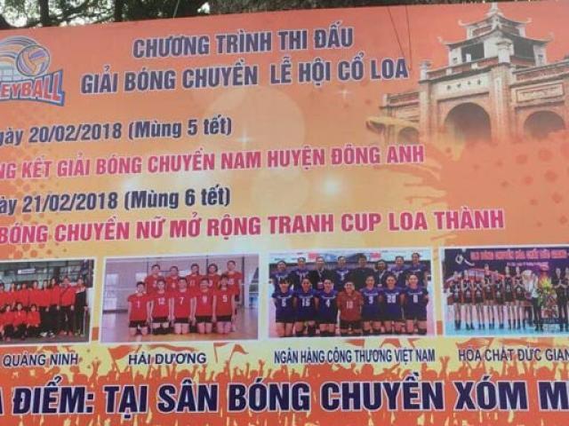 Lịch thi đấu bóng chuyền Việt Nam hội làng Xuân 2018 1