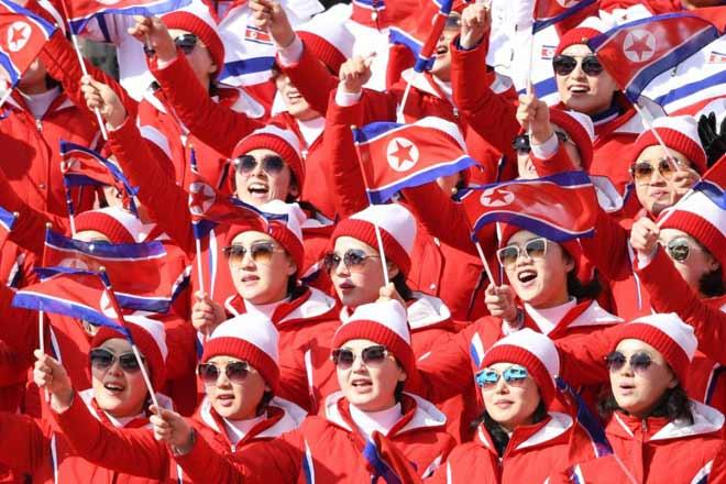 """Cận cảnh màn đồng diễn """"triệu like"""" của mỹ nữ Triều Tiên (Olympic mùa đông 2018) 4"""