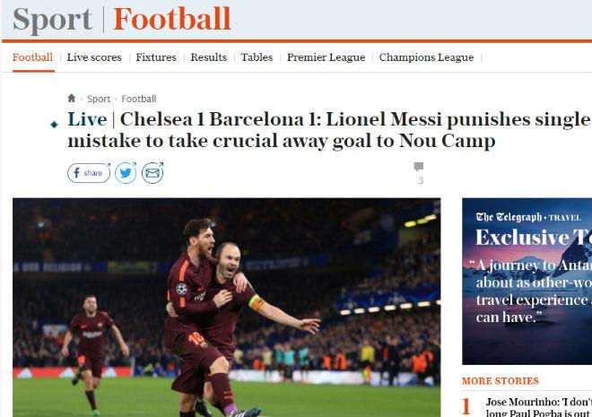 """Chelsea """"rơi vàng"""" trước Barca: Báo Anh công kích """"Terry đệ nhị"""" 7"""