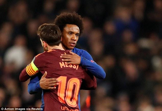 """Chelsea hòa tiếc nuối: """"Hung thần"""" Willian lớn tiếng đe dọa Barca-Messi 2"""
