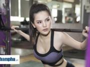 """Thể thao - """"Thánh nữ Mì Gõ"""" Trang Phi nóng bỏng tập gym, lộ chiêu giảm cân sau Tết"""