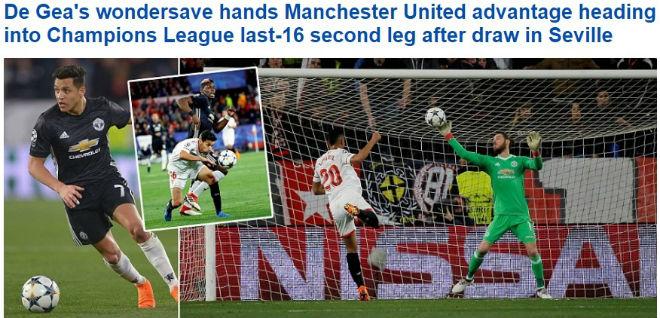De Gea hay nhất trận: Báo chí thế giới bái phục 8 lần cứu thua 1