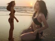 """Bạn trẻ - Cuộc sống - Fan choáng khi """"cô bé trà sữa"""" Kiều Trinh bất ngờ khoe ảnh bikini"""