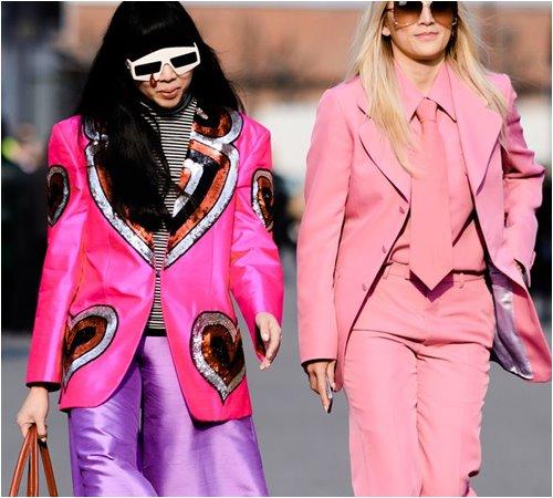 """Áo hồng, tóc hồng nổi """"bần bật"""" - 2 tín đồ Nhật náo loạn đường phố Milan FW - 10"""