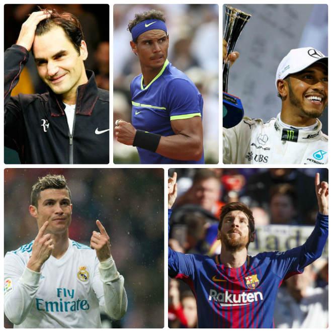 "Hấp dẫn: Federer - Nadal đấu Ronaldo - Messi giải ""Oscar thể thao"" 1"