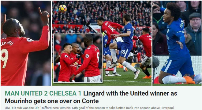 MU ngược dòng Chelsea: Báo chí Anh ngây ngất Lukaku, thán phục Mourinho - 2