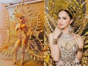 Thời trang - Trang phục truyền thống nặng 55 kg của Hương Giang tại Hoa hậu Chuyển giới