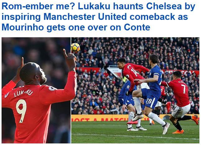 """MU thắng Chelsea: Bước ngoặt mùa giải, báo chí """"chết mê"""" Lukaku - Mourinho 1"""
