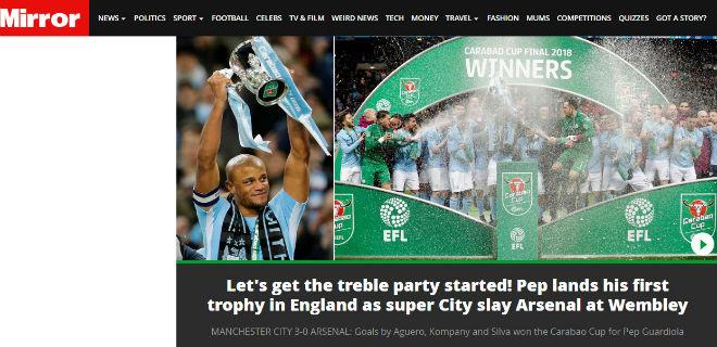 Man City giành cúp, fan Arsenal hổ thẹn, báo chí Anh đòi sa thải ngay Wenger 4