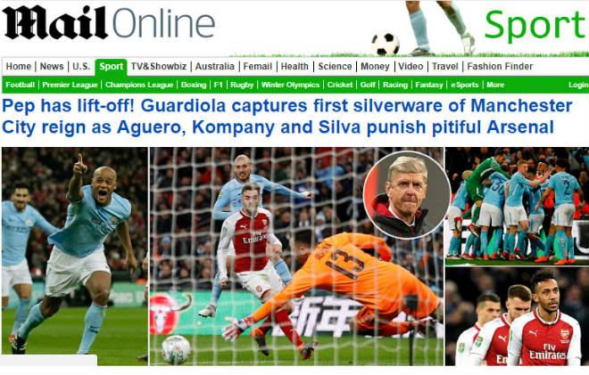 Man City giành cúp, fan Arsenal hổ thẹn, báo chí Anh đòi sa thải ngay Wenger 8