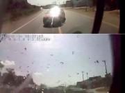 """Tin tức trong ngày - Thông tin mới về clip xe khách và ô tô con tông nhau như """"sấm sét"""""""