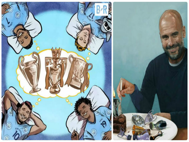 """Pep – Man City có danh hiệu đầu: Mơ ăn 3 để """"cười vào mũi"""" MU - Mourinho 4"""