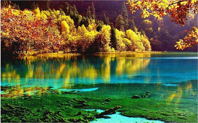 Độc đáo hồ nước nóng ruộng bậc thang đủ màu ở Trung Quốc - 6