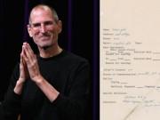 Tài chính - Bất động sản - Đơn xin việc đầy lỗi chính tả của huyền thoại Steve Jobs được đấu giá cao ngất ngưởng