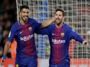 """Bóng đá - """"Song tấu"""" Barca phá lưới hơn 74 CLB: Thầy Ronaldo đòi treo giò Messi"""
