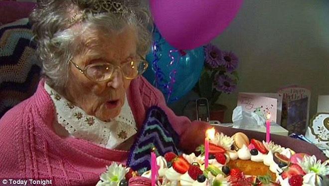 Cụ bà thọ nhất nước Úc tiết lộ bí quyết sống lâu sống khỏe