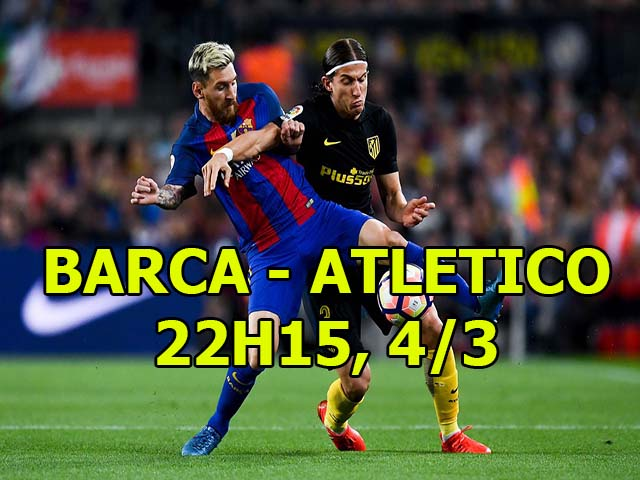 TRỰC TIẾP Barcelona - Atletico: Coutinho đá chính đấu Griezmann - Costa 21