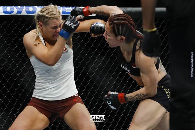 """UFC: Tranh đai vô địch, mỹ nữ tóc vàng bị """"Người máy"""" đấm gục 3"""
