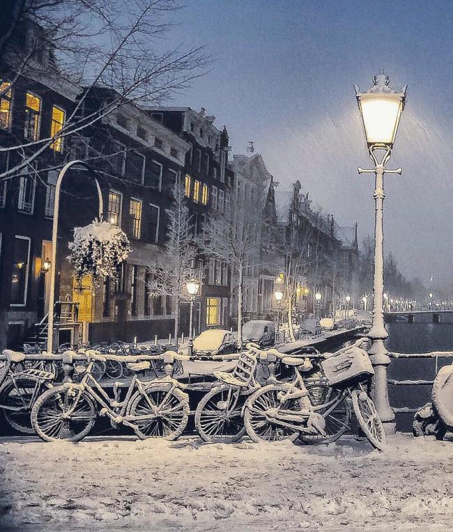 Vương quốc mùa đông thêm lung linh ảo diệu dưới trời mưa tuyết - 7