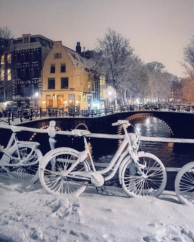 Vương quốc mùa đông thêm lung linh ảo diệu dưới trời mưa tuyết - 11