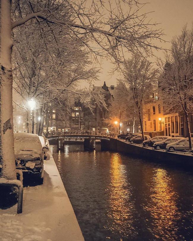 Vương quốc mùa đông thêm lung linh ảo diệu dưới trời mưa tuyết - 12