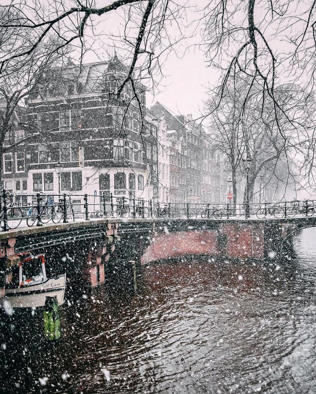 Vương quốc mùa đông thêm lung linh ảo diệu dưới trời mưa tuyết - 15