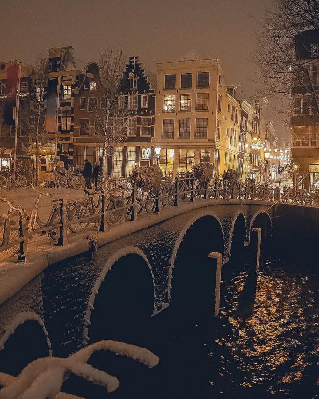 Vương quốc mùa đông thêm lung linh ảo diệu dưới trời mưa tuyết - 14