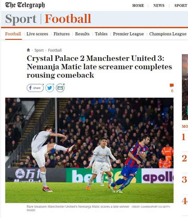 """MU ngược dòng: Báo Anh khen Mourinho """"thiên tài"""", ngả mũ Matic kỳ diệu 2"""