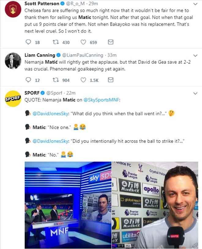 """Matic ghi siêu phẩm, MU ngược dòng: Triệu fan """"cảm ơn"""" Chelsea tặng quà 2"""