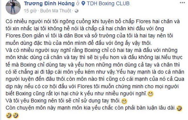 """""""Nam vương"""" boxing Việt """"chấp"""" cao thủ Flores 2 chân: Nói là làm 2"""
