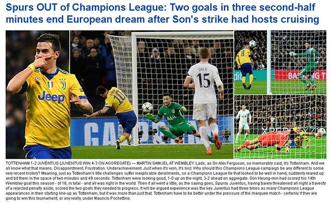 Tottenham - Juventus ngược dòng 3 phút: Báo Anh ngã ngửa, người Ý khó tin