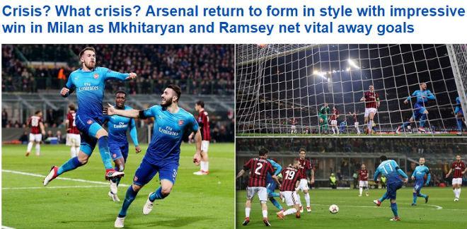 """Arsenal làm câm lặng AC Milan: Báo Anh ngỡ ngàng, fan """"khó xử"""" với Wenger 1"""