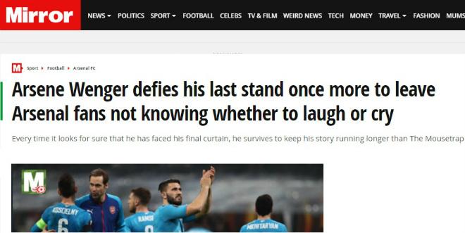 """Arsenal làm câm lặng AC Milan: Báo Anh ngỡ ngàng, fan """"khó xử"""" với Wenger 2"""