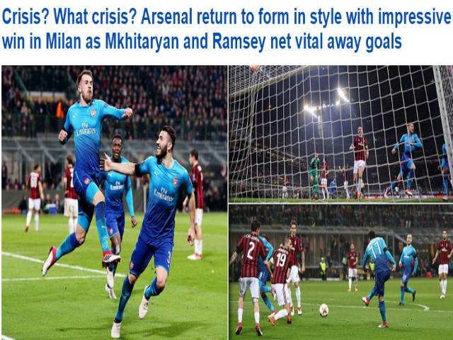 """Arsenal hạ đẹp Milan: Wenger như thắng boxing, """"nổ"""" tưng bừng 4"""