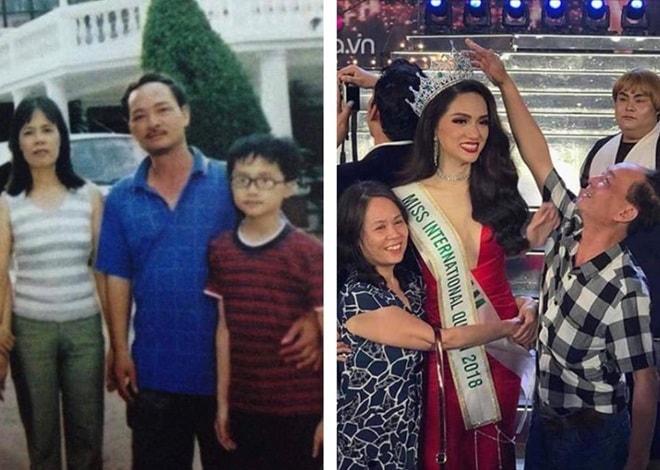 Ảnh cũ gia đình tân Hoa hậu chuyển giới Quốc tế gây chú ý - 3