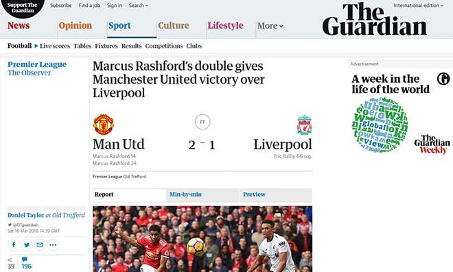 """MU hạ Liverpool: Báo Anh ca ngợi Mourinho """"bạc già"""", khen Rashford hết lời 5"""