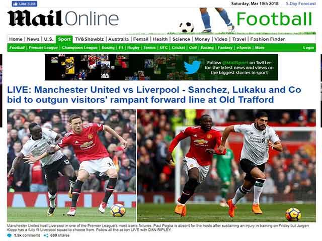 Tin HOT bóng đá trưa 11/3: Liverpool thua đau MU, dốc tiền mua SAO 4