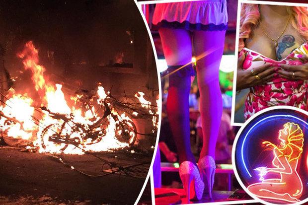 Cháy phố đèn đỏ Thái Lan, gái mại dâm chạy tán loạn - 1