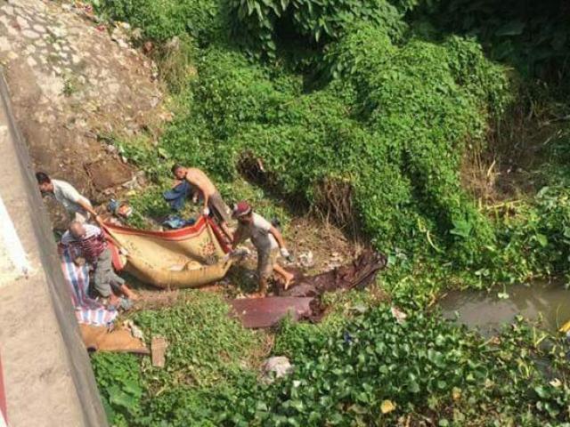 Phát hiện thi thể người đàn ông bị trói trôi trên sông Thương