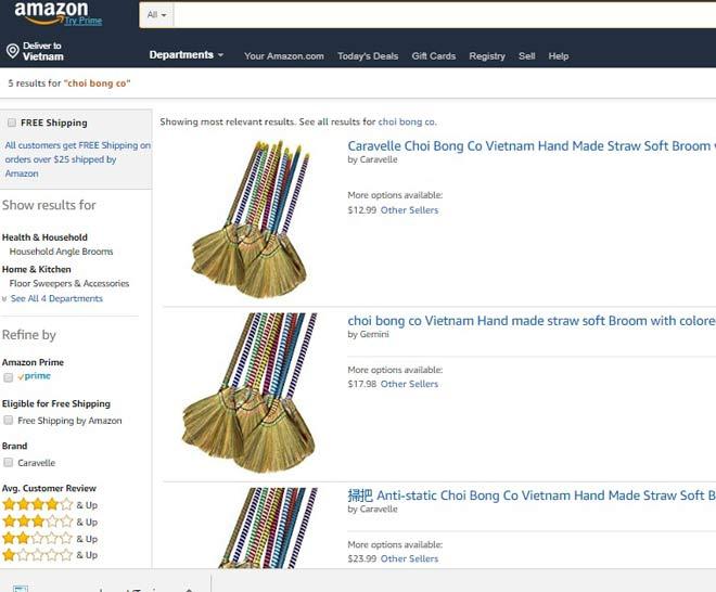 Hình ảnh Sau lá chuối, chổi chít Việt Nam được rao bán với giá