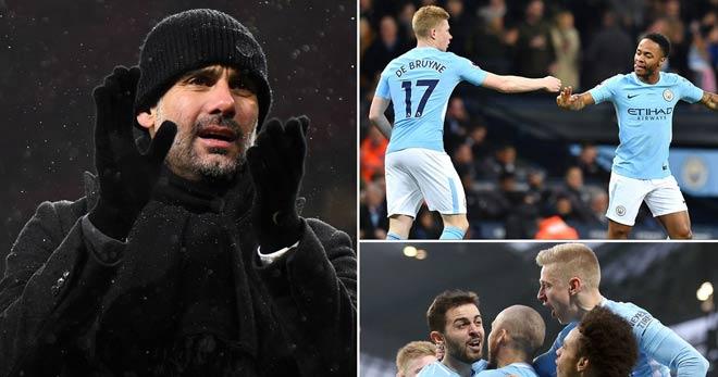 """Stoke City - Man City: """"Lốc xanh"""" của Pep, ngôi vương rất gần 2"""