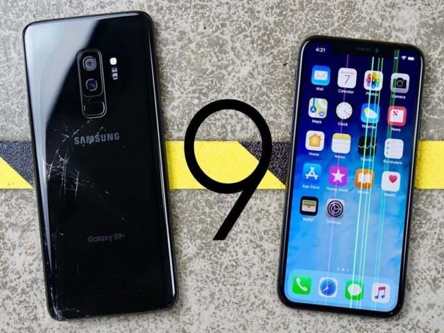 """iPhone X cũng cứng đấy, nhưng Galaxy S9+ còn """"nồi đồng cối đá"""" hơn"""
