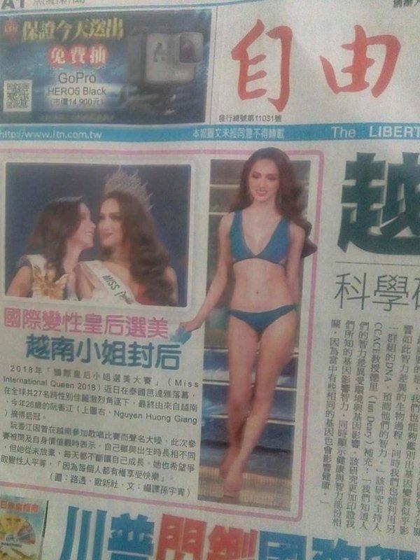 Truyền thông các nước đưa tin về hoa hậu Hương Giang - 2