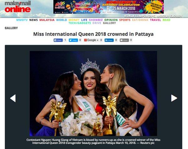 Truyền thông các nước đưa tin về hoa hậu Hương Giang - 7