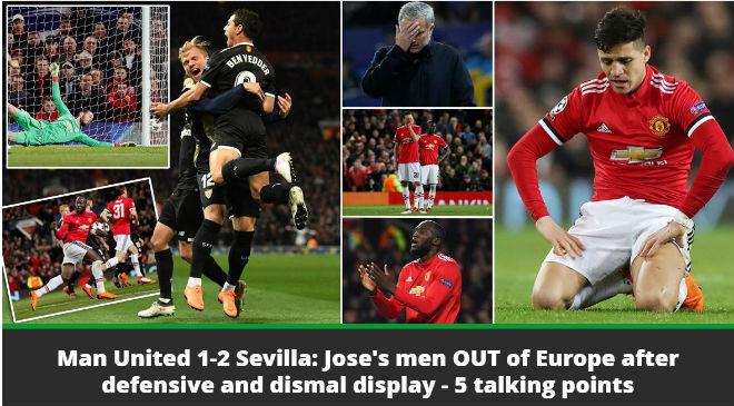 MU bị loại Cúp C1: Báo chí Anh cay nghiệt mắng Mourinho hèn nhát 3