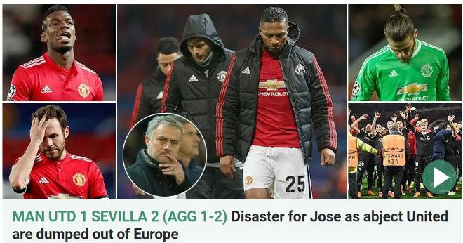 MU bị loại Cúp C1: Báo chí Anh cay nghiệt mắng Mourinho hèn nhát 4