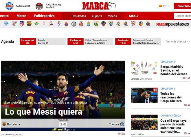 """Barca hạ đẹp Chelsea: Báo Anh """"quy phục"""" Messi, truyền thông thế giới tán thưởng 3"""