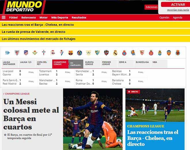"""Barca hạ đẹp Chelsea: Báo Anh """"quy phục"""" Messi, truyền thông thế giới tán thưởng 7"""